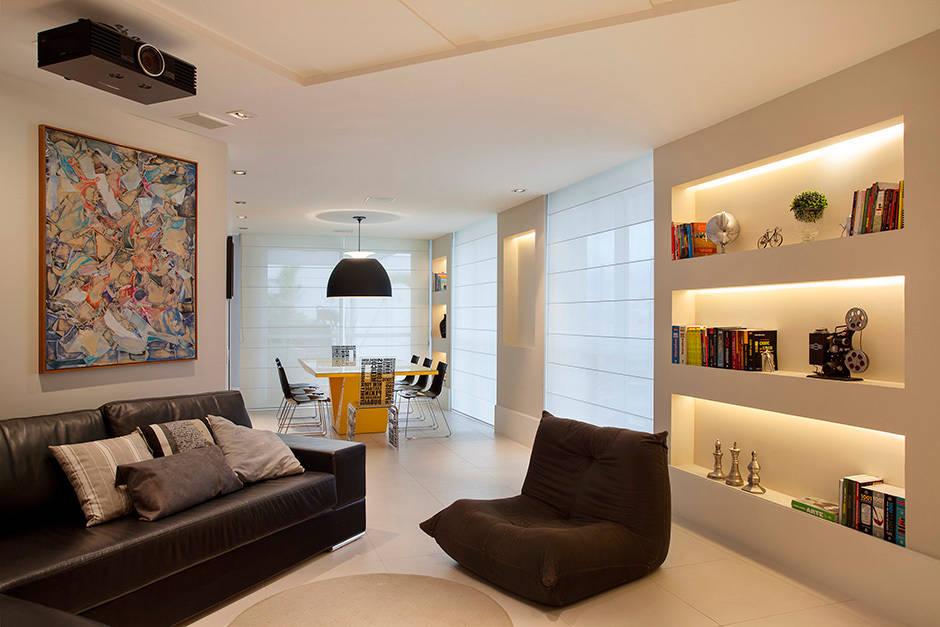 10 dise os de repisas de yeso perfectas para casas modernas for Decoracion family room moderno