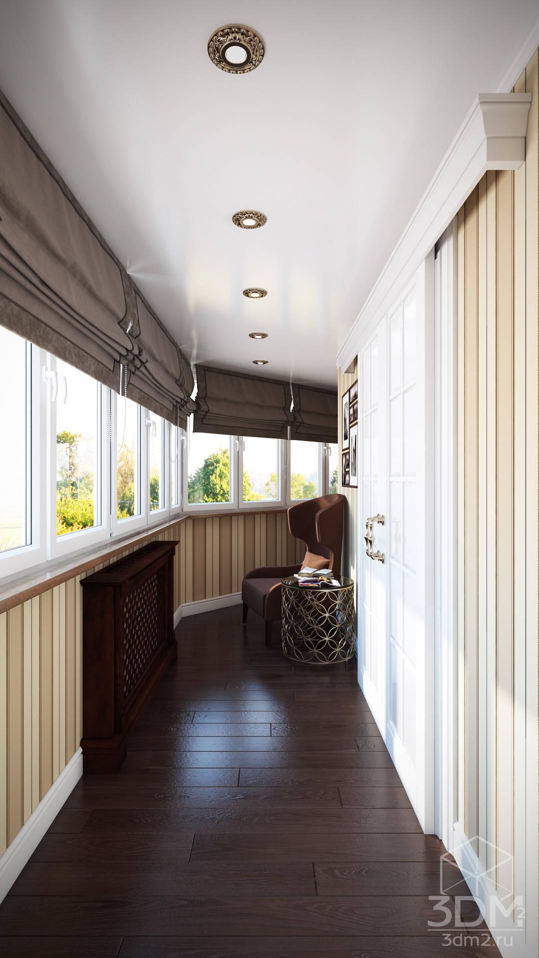 Проект 013: лоджии + ванная de студия визуализации и дизайна.