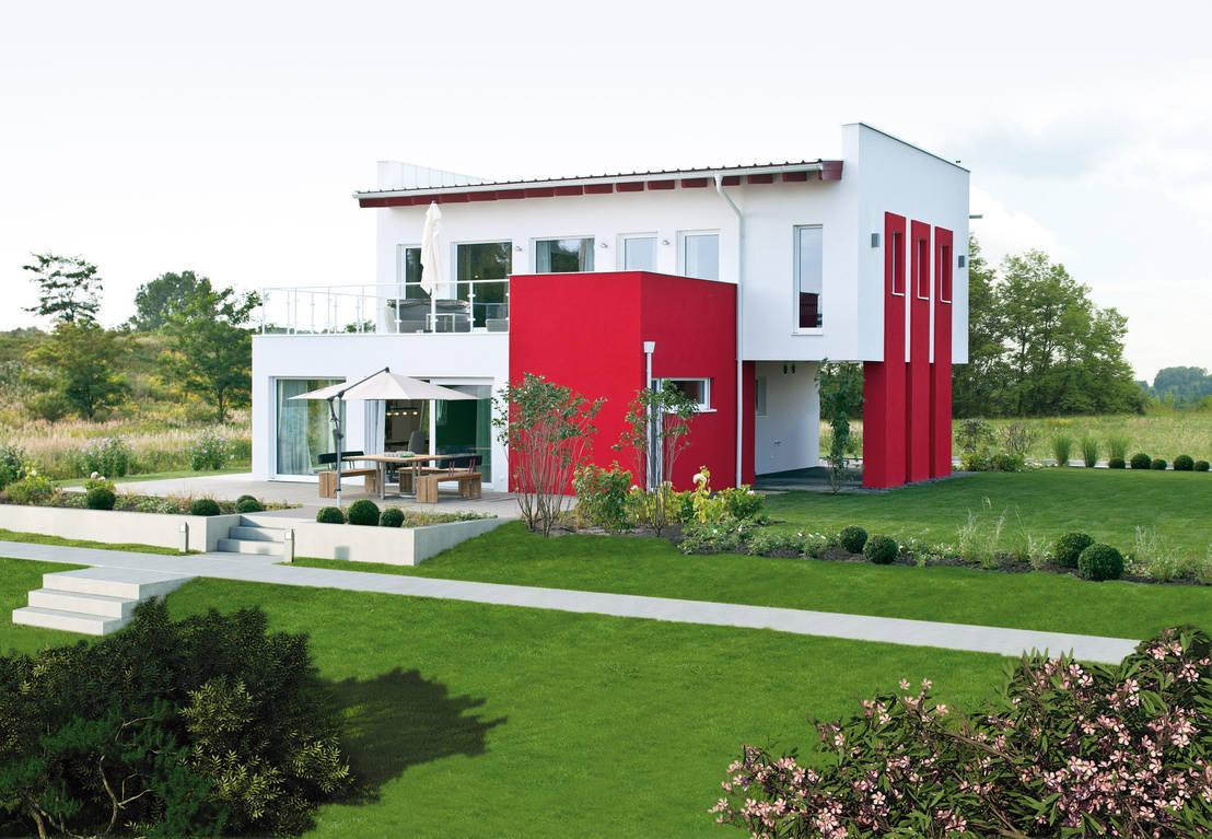 individuell wohnen im modernen fertighaus. Black Bedroom Furniture Sets. Home Design Ideas