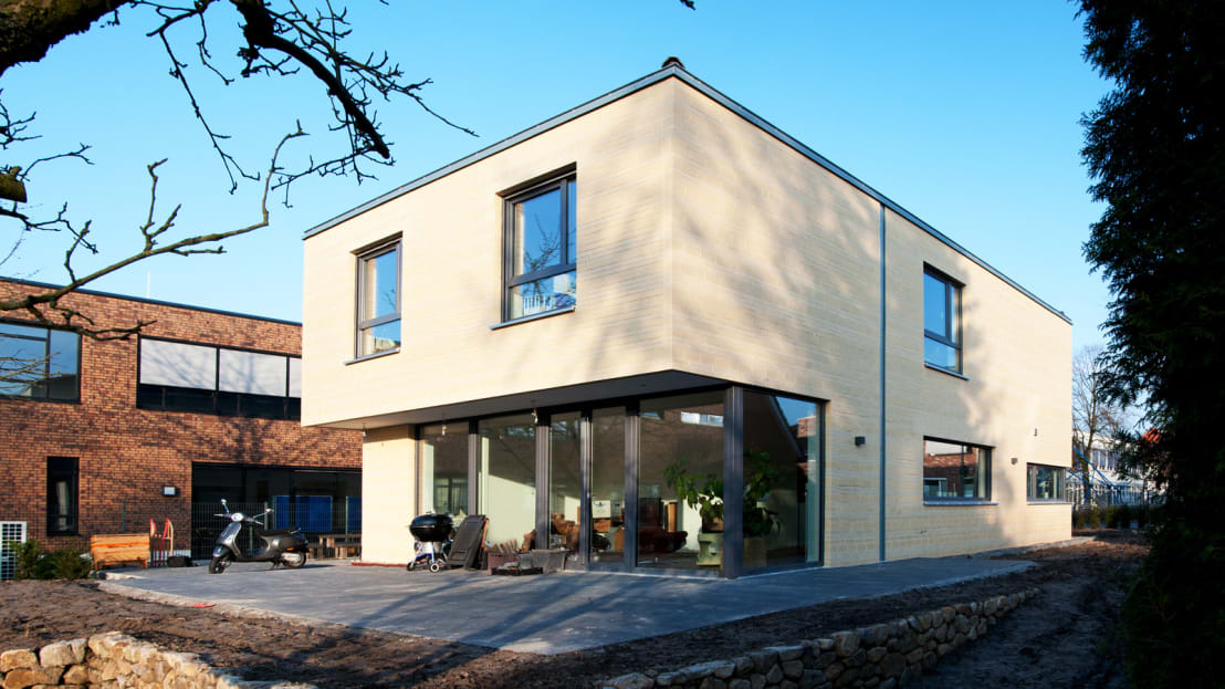 modernes einfamilienhaus in m nster von w p architekten homify. Black Bedroom Furniture Sets. Home Design Ideas