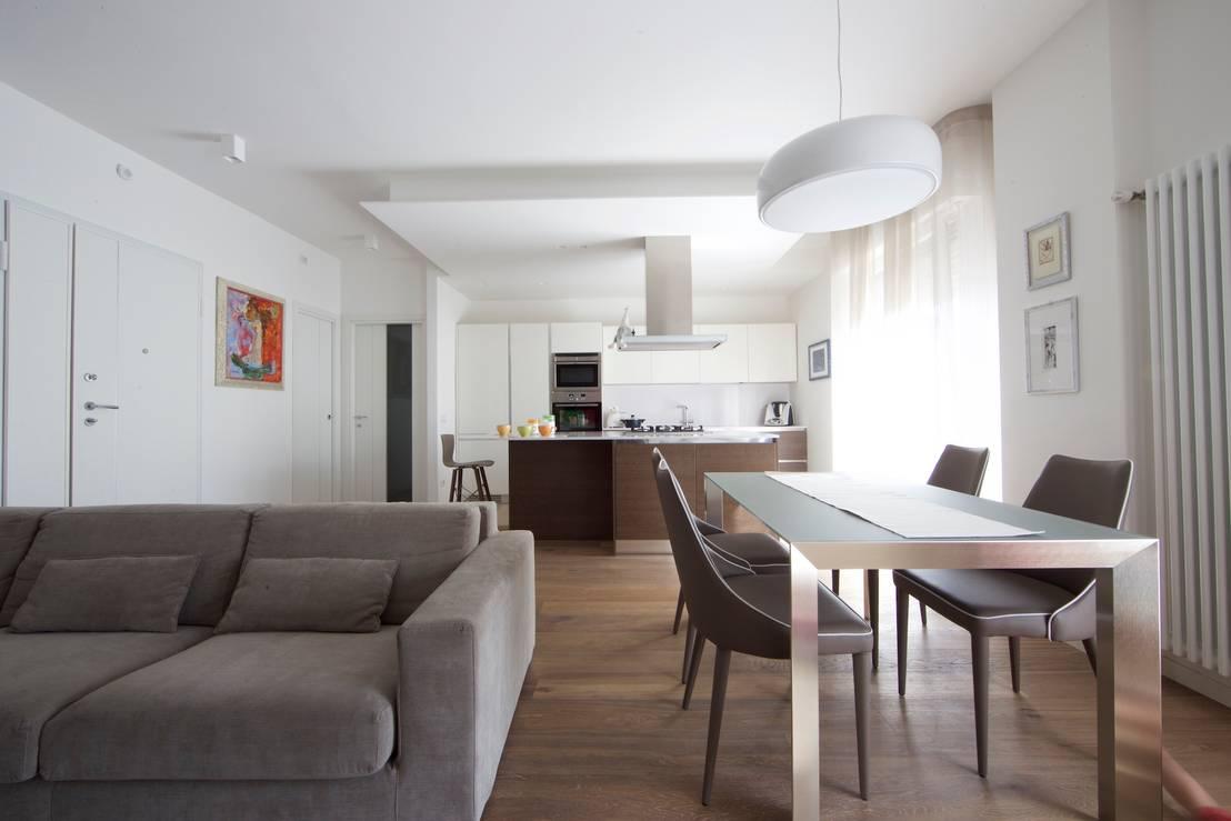 37 spunti su come dividere sala da pranzo soggiorno e cucina - Disposizione stanze casa ...