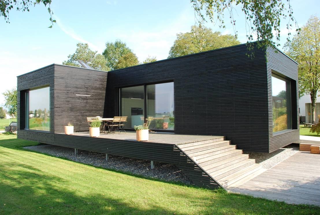 Una casa prefabricada muy sencilla y moderna - Casa prefabricada moderna ...