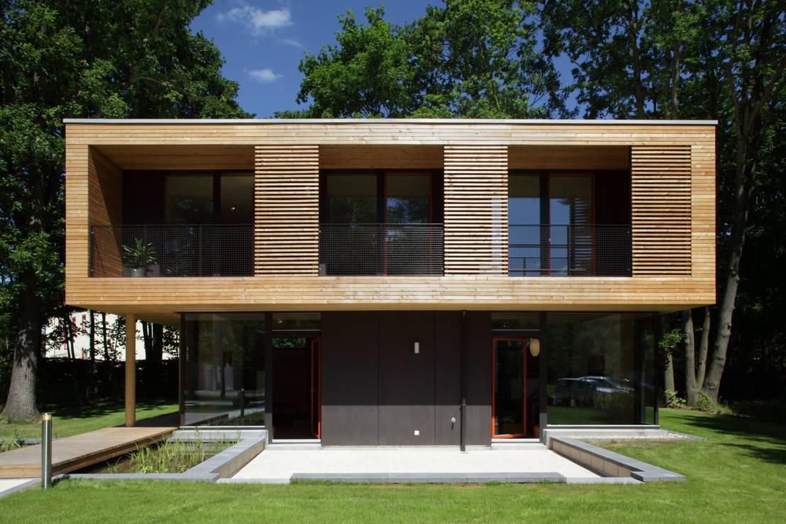 architekturwerkstatt vallentin gmbh passivhaus villa im park spreti neuenhagen bei berlin homify. Black Bedroom Furniture Sets. Home Design Ideas
