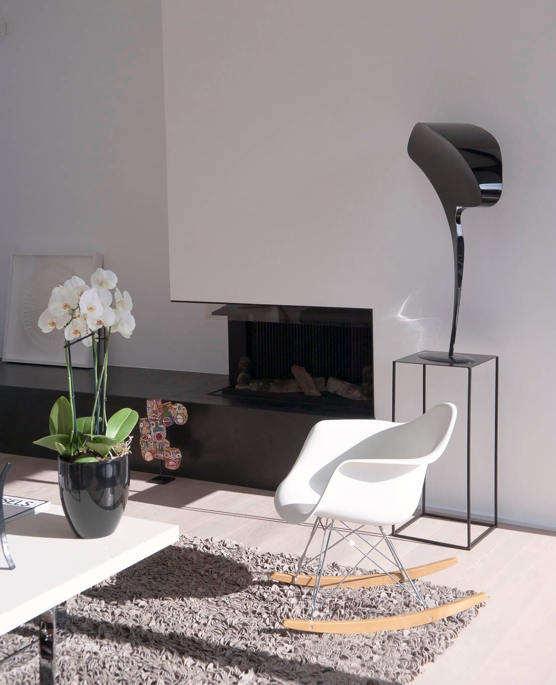 decoration noir et blanc door isabelle leclercq design homify. Black Bedroom Furniture Sets. Home Design Ideas