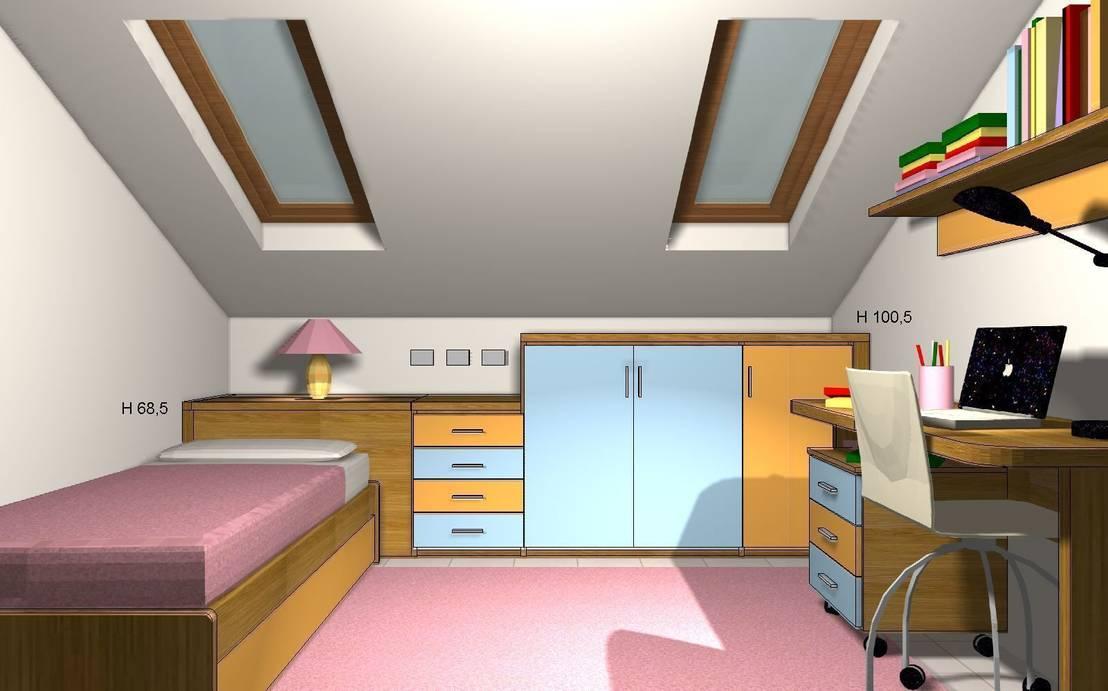 Cameretta per bambini moderna in mansarda di - Camera per bambini usata ...