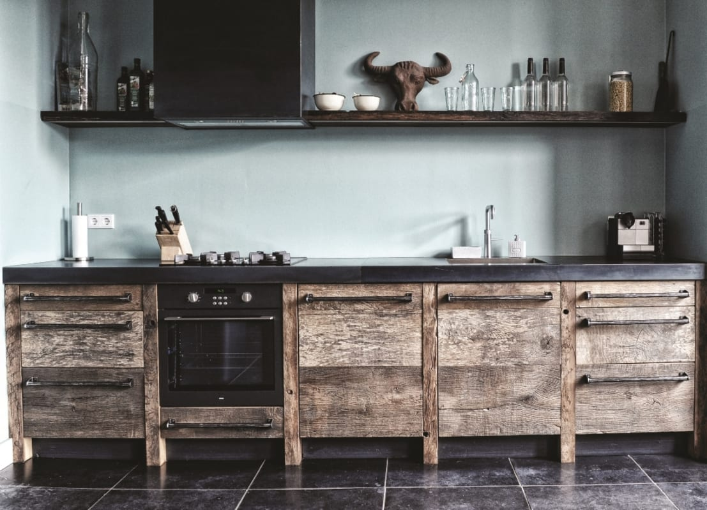 Keukens met een houten thema - Fotos van keuken amenagee ...