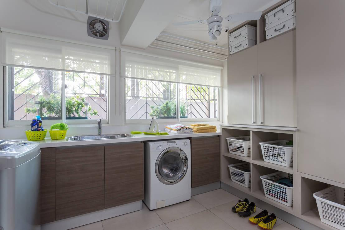 10 ideas para que te inspires a poner bonito tu cuarto de for Lavaderos modernos para ropa