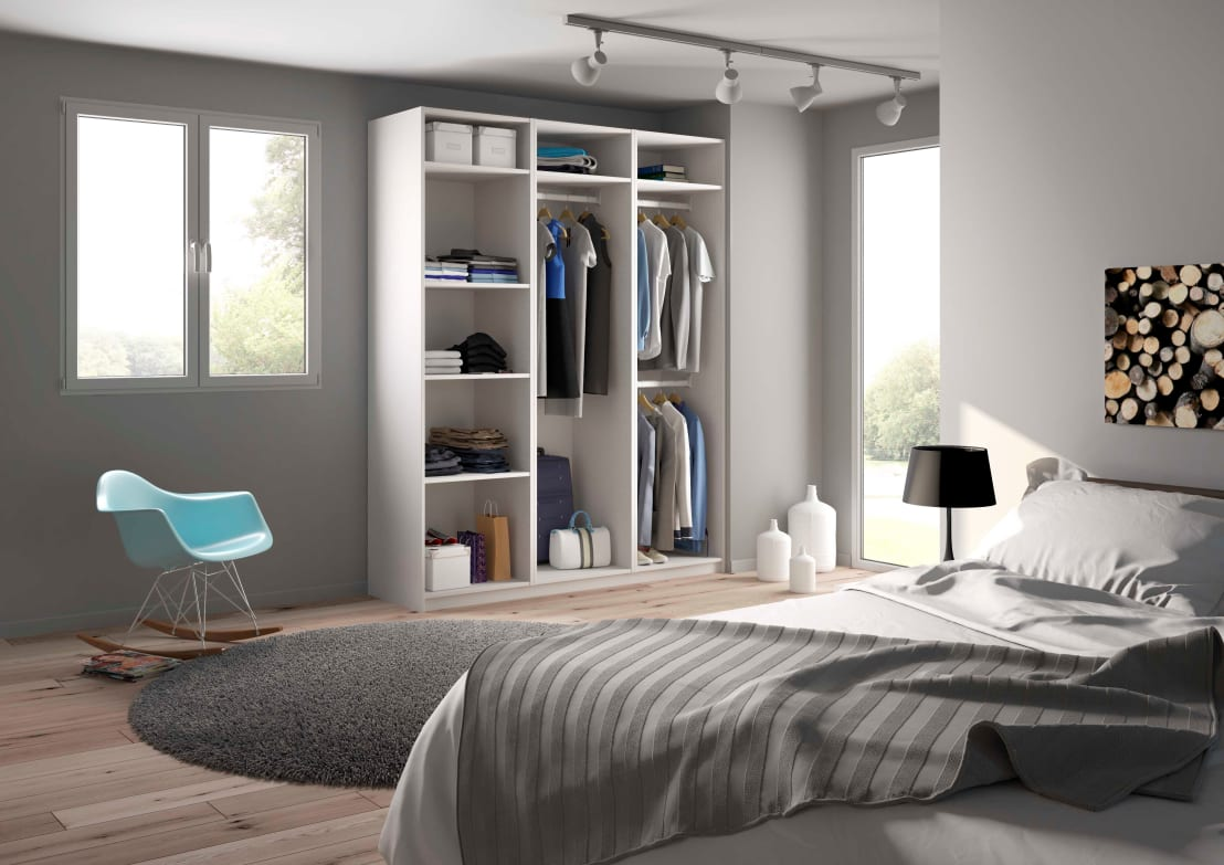 armoire dressing sur mesure ouverte homify. Black Bedroom Furniture Sets. Home Design Ideas