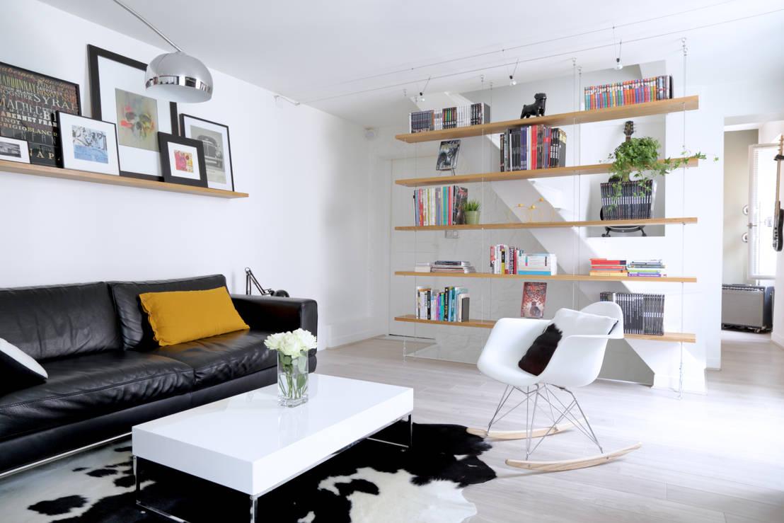 am nagement d 39 un appartement de 60m nanterre por madam architecture homify. Black Bedroom Furniture Sets. Home Design Ideas