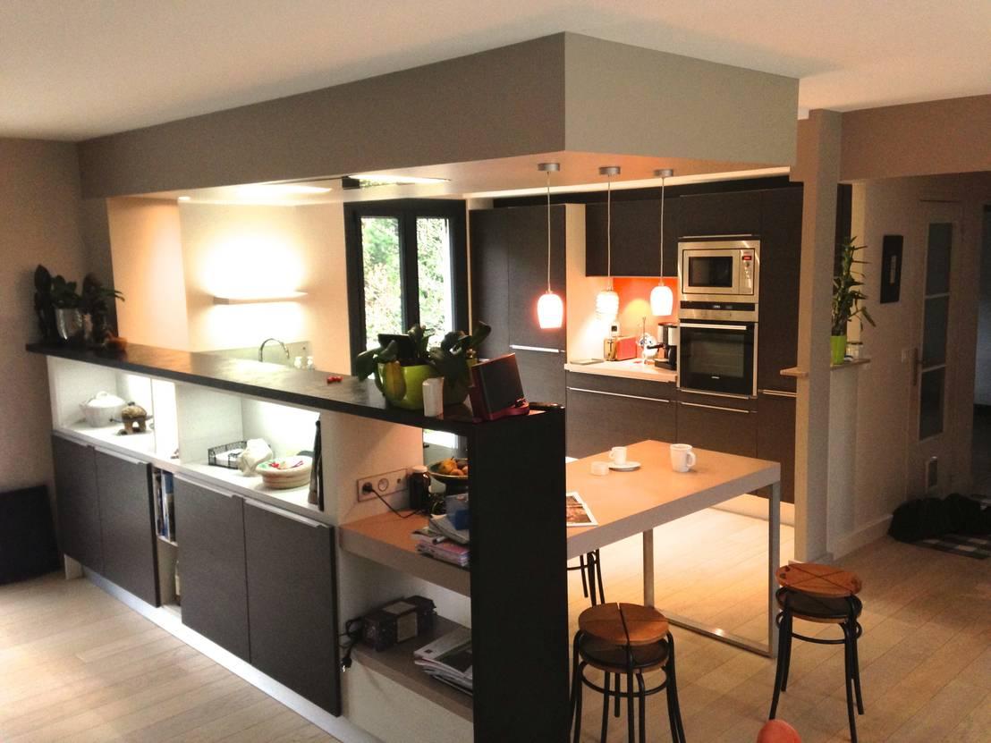 Cuisine ouverte en claustra sevrier par art 39 home homify for Exterieur plus sevrier