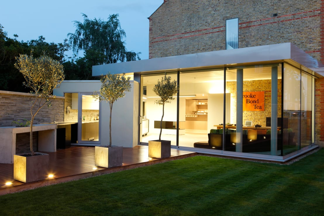 Beautiful brick house with classy interiors for Village craft container home