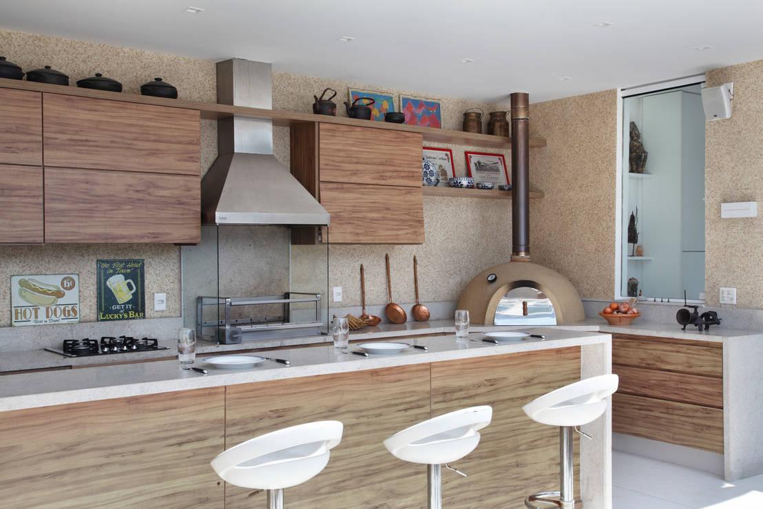 11 barras para quinchos que le dar n otra vida a tus asados for Muebles de cocina de ladrillos imagenes