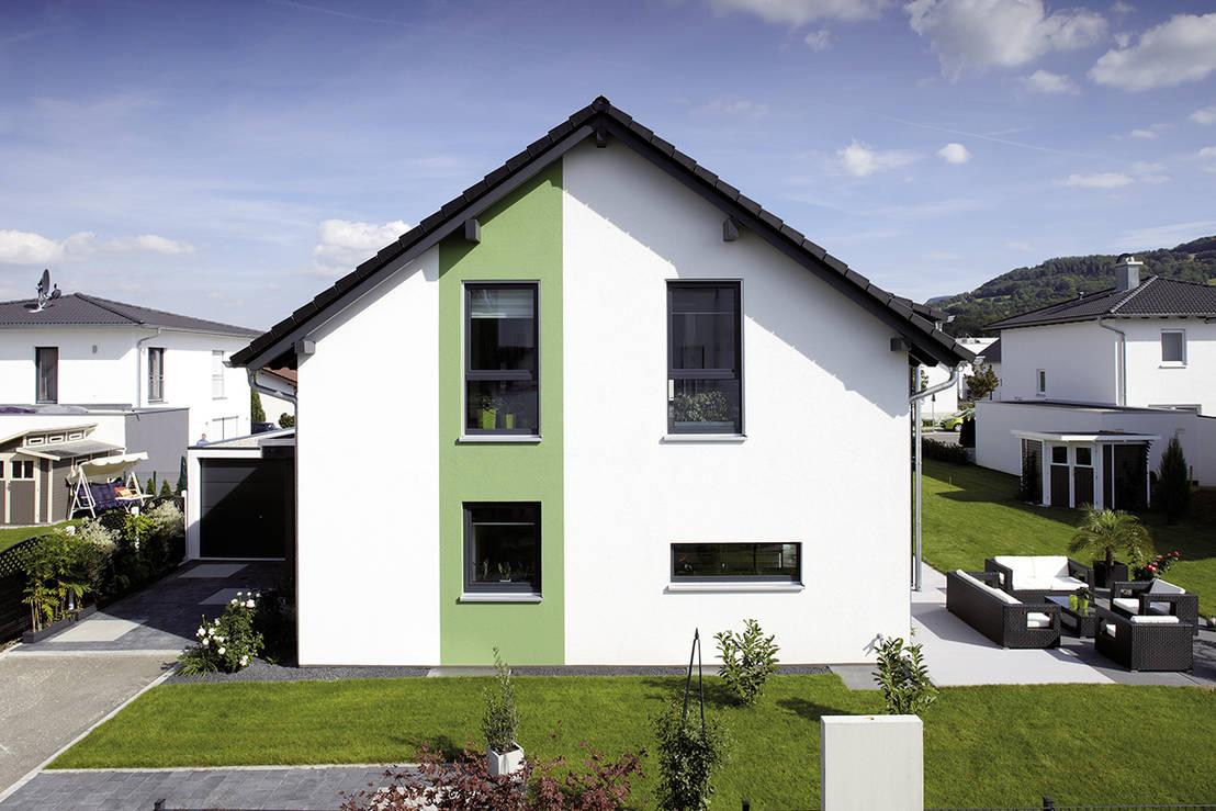 schlicht und elegant das perfekte einfamilienhaus. Black Bedroom Furniture Sets. Home Design Ideas