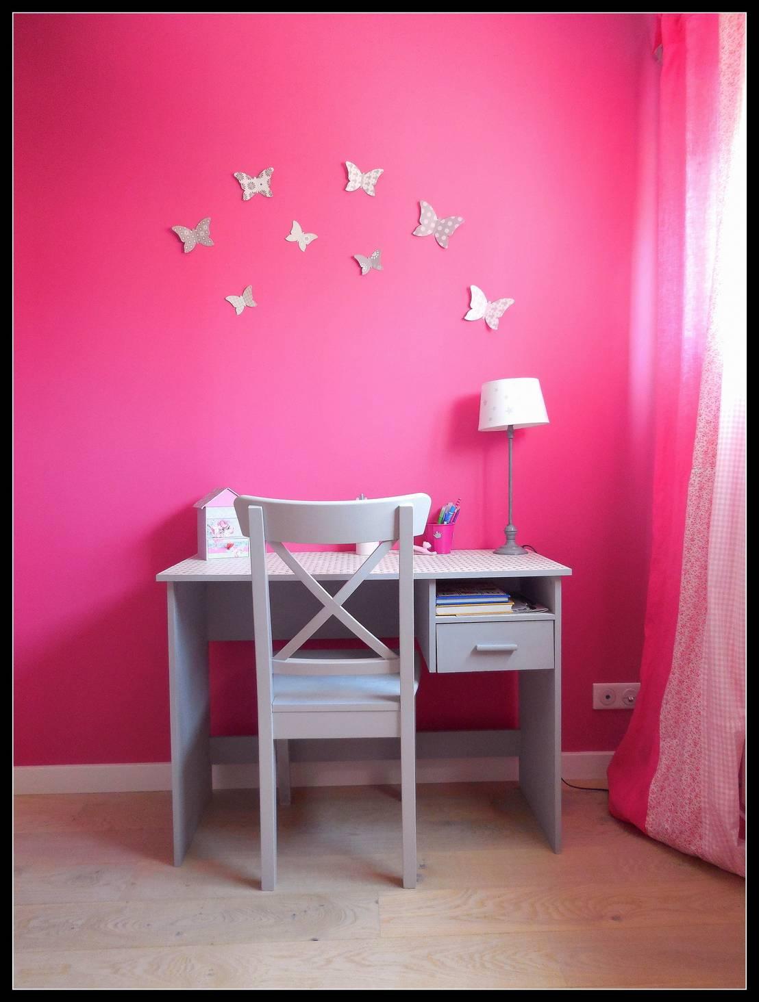 sc nes d 39 int rieur chambre d 39 enfant fushia et grise homify. Black Bedroom Furniture Sets. Home Design Ideas