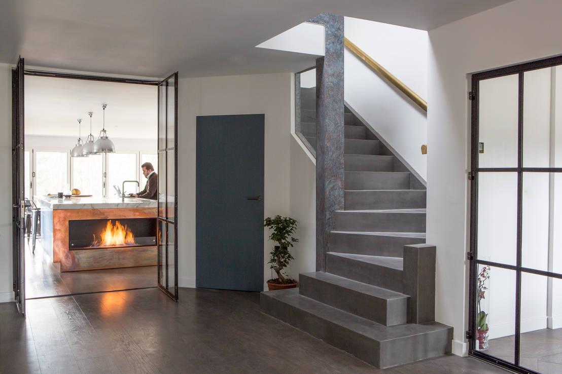 15 escaleras de concreto perfecta para casas modernas for Escaleras de cemento para interiores