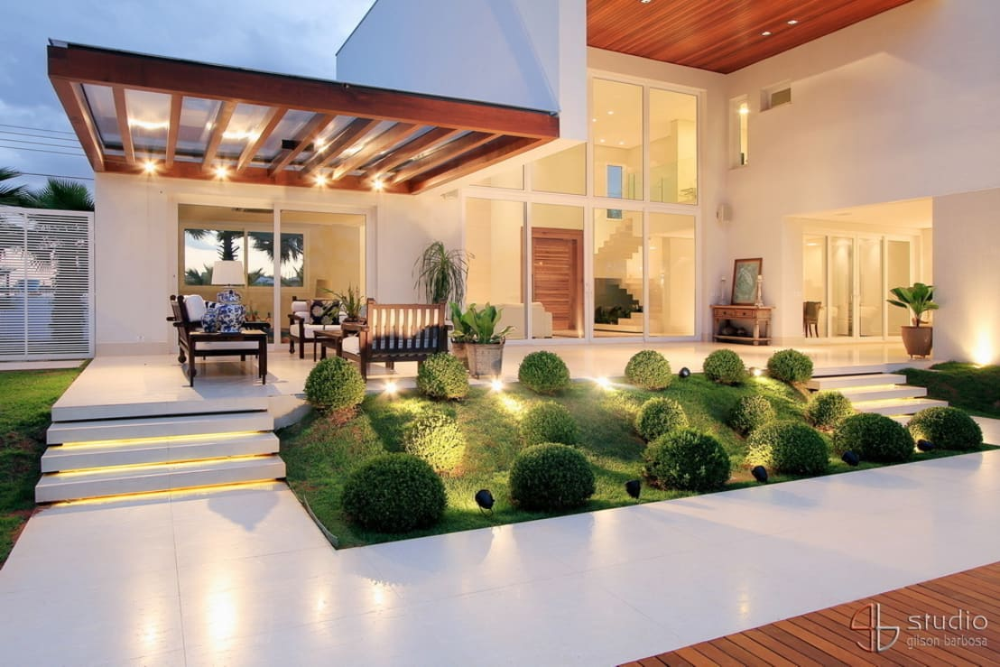 20 jardines peque os que har n lucir la fachada de tu casa - Ver jardines de casas ...