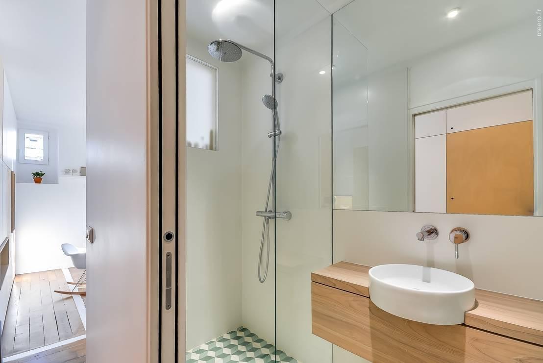 Optimiser une petite salle de bain for Idee pour amenager une petite salle de bain