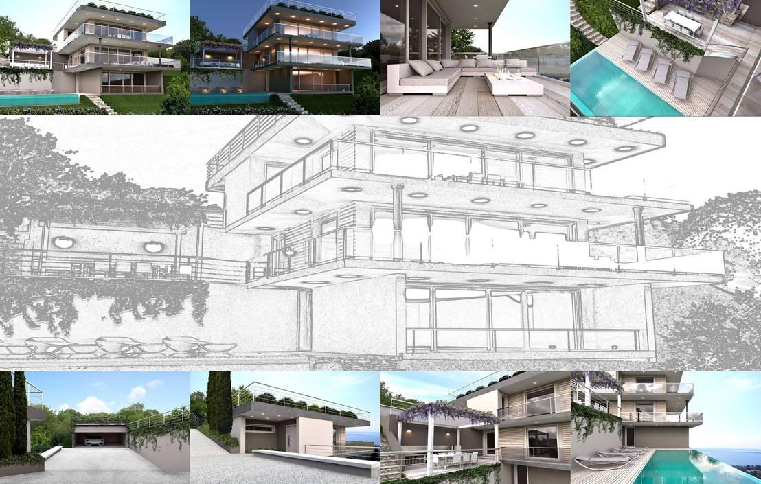 restyling villa residenziale lago di garda von artready homify. Black Bedroom Furniture Sets. Home Design Ideas