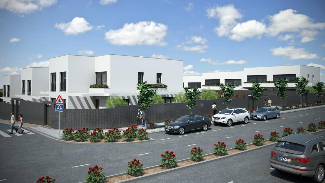 Aurianova arquitectos parcela ru2b ar nuevo tres cantos madrid 12 viviendas unifamiliares - Viviendas tres cantos ...