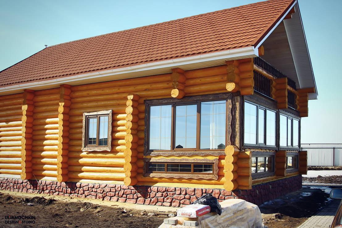 6 casas de madera natural en un piso y muy sencillas