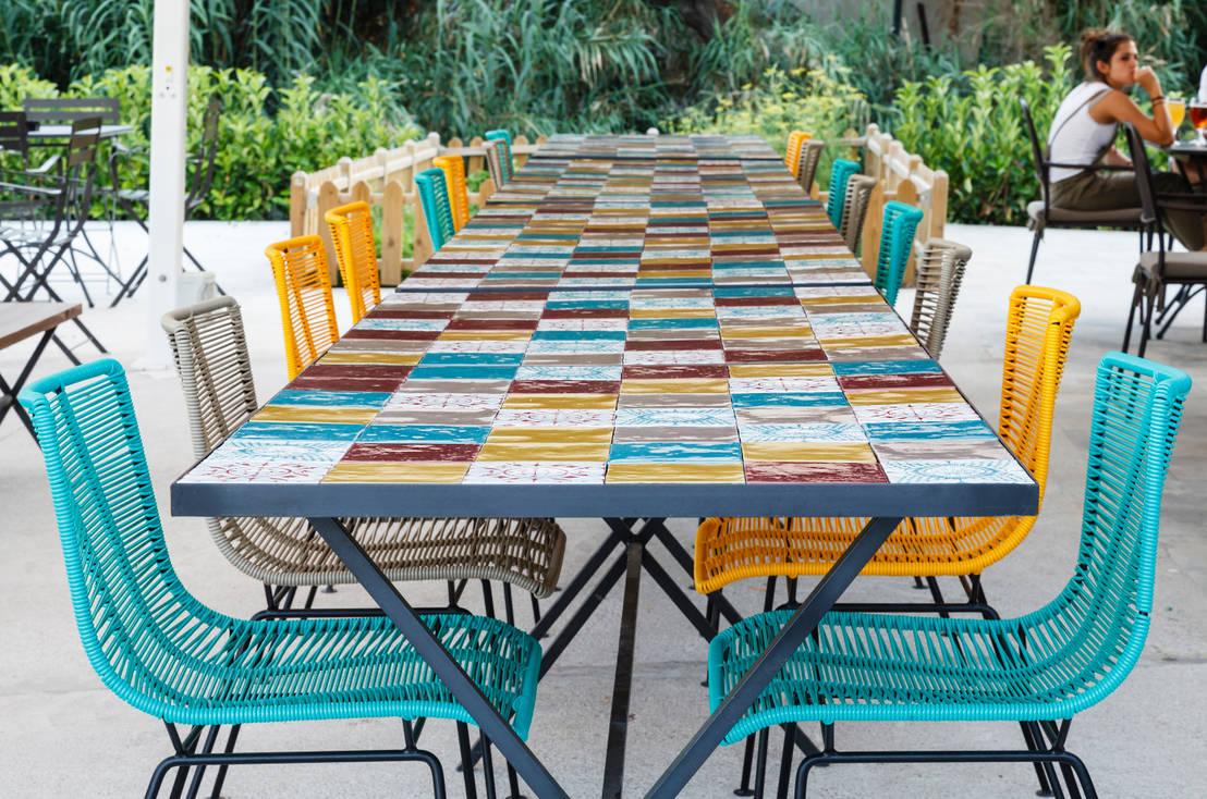 Terraza chill out por dyd interiorismo chelo alca z for Piso wellington barcelona