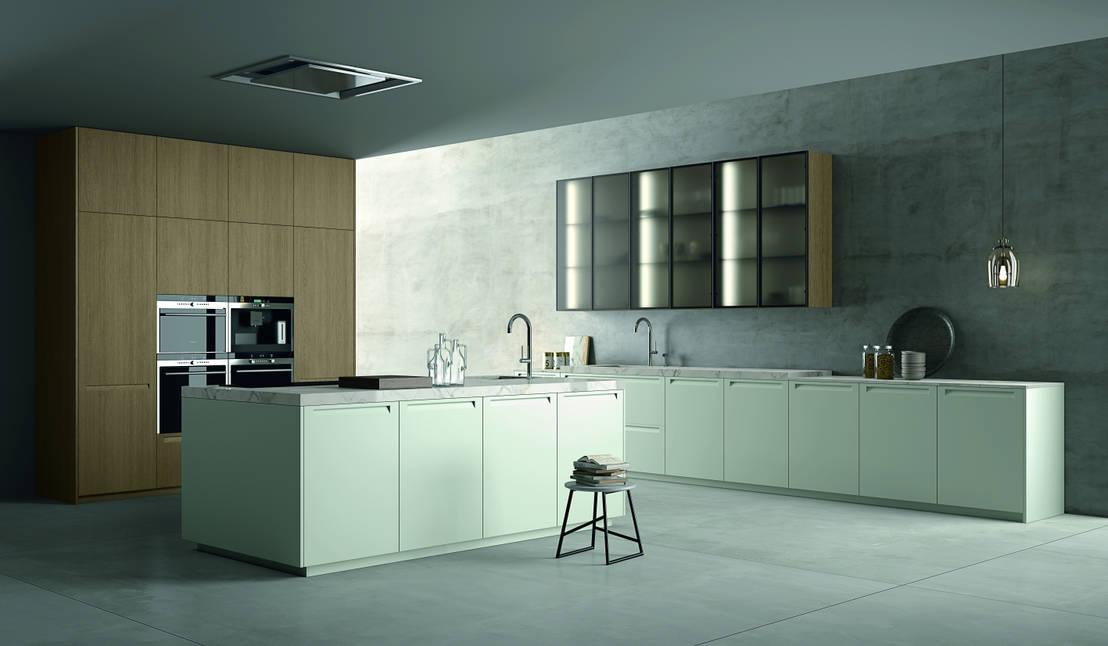 Trendy zielone kuchnie - Doimo cucine spa ...