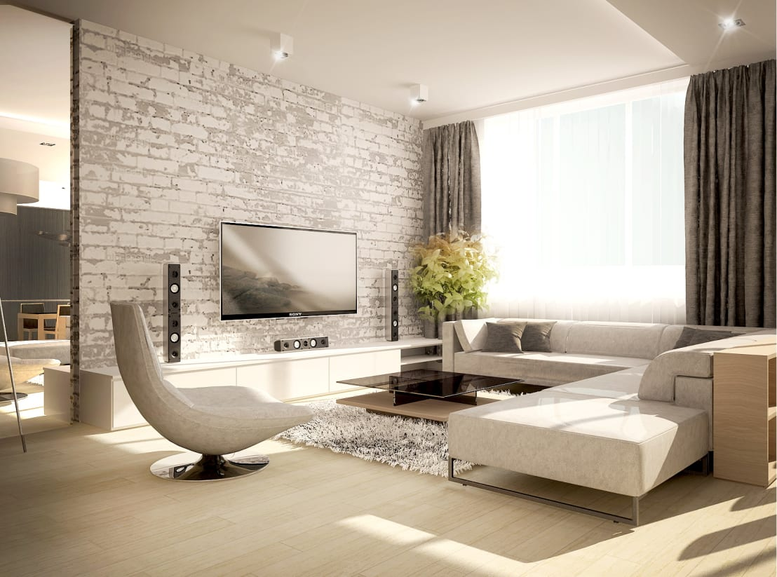 Modern living rooms with elegant decor for Elegant contemporary living rooms