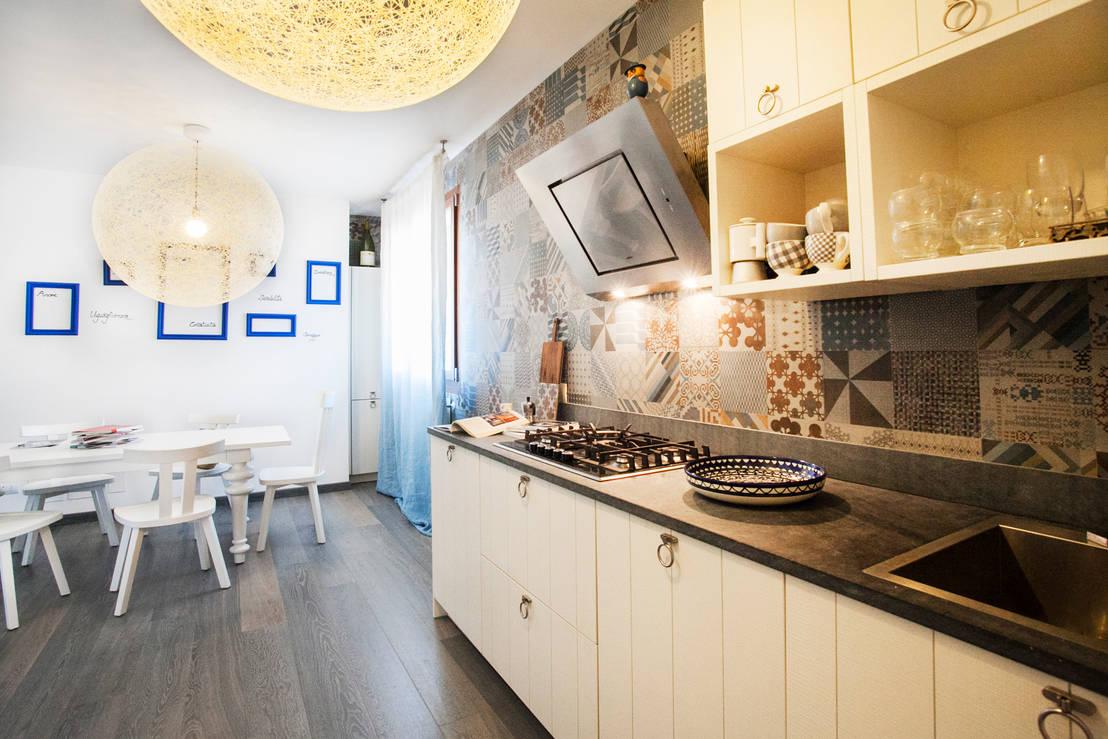 46 foto di straordinarie cucine a parete ideali per chi ha - Cucina in poco spazio ...