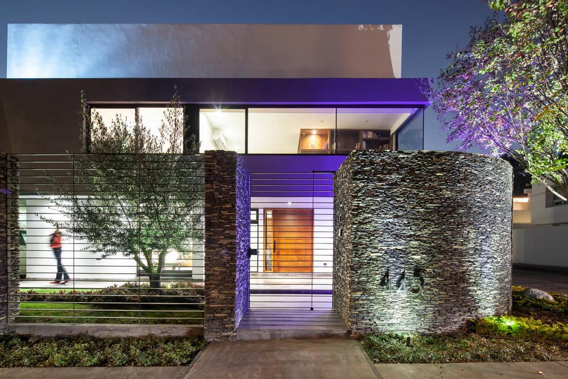 Nowoczesne wej cie do domu 15 pomys w do skopiowania for Fachadas de casas modernas iluminadas