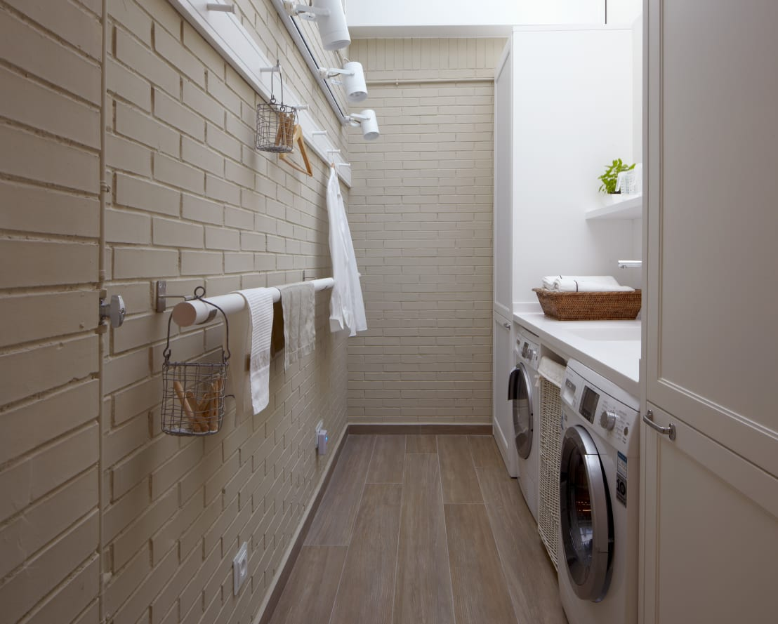 12 praktische en mooie manieren om je wasruimte te organiseren