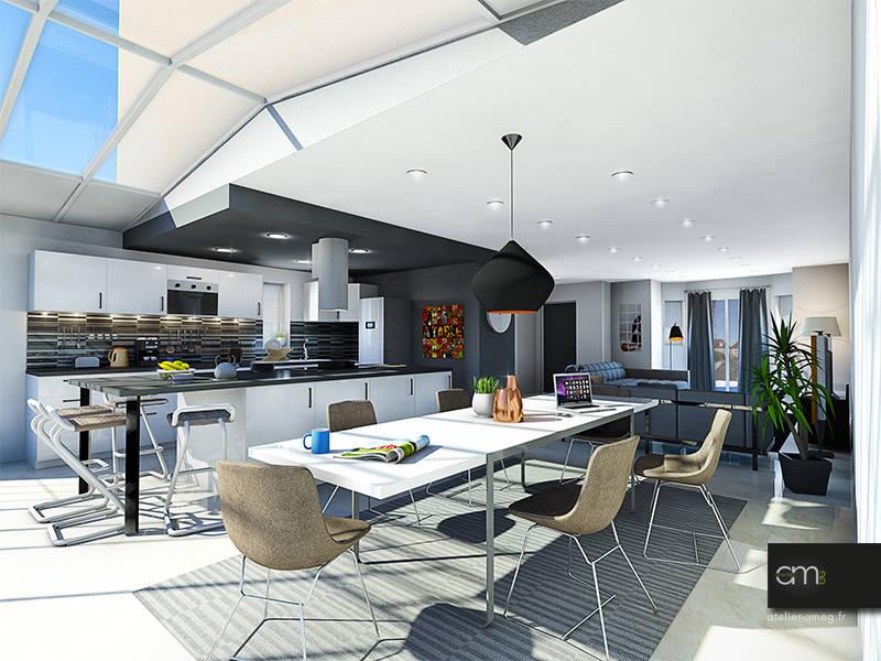 villa bagneux 92 de atelier ameg homify. Black Bedroom Furniture Sets. Home Design Ideas