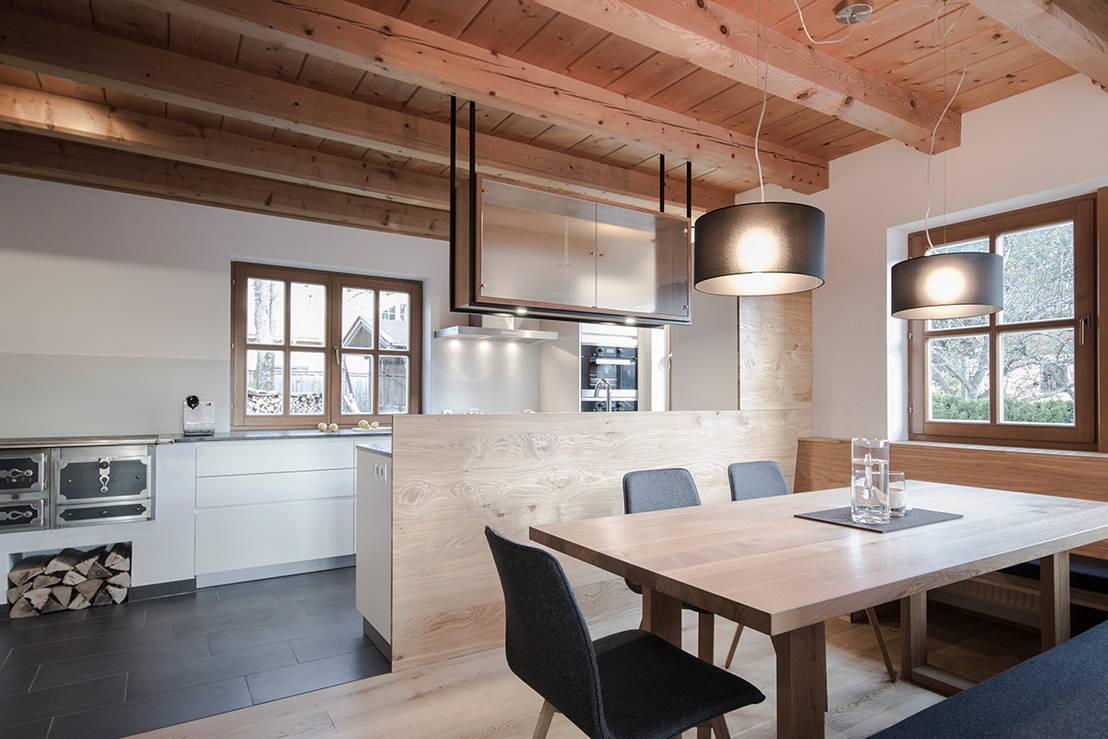 Planung und umsetzung eines koch und essbereiches in - Innenarchitektur bilder ...