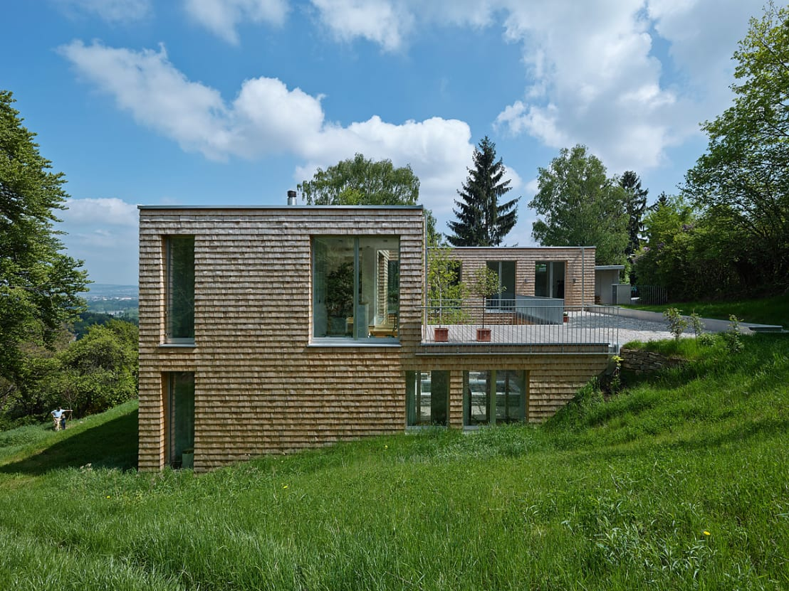 Sonniger wohntraum - Plan maison terrain pente ...