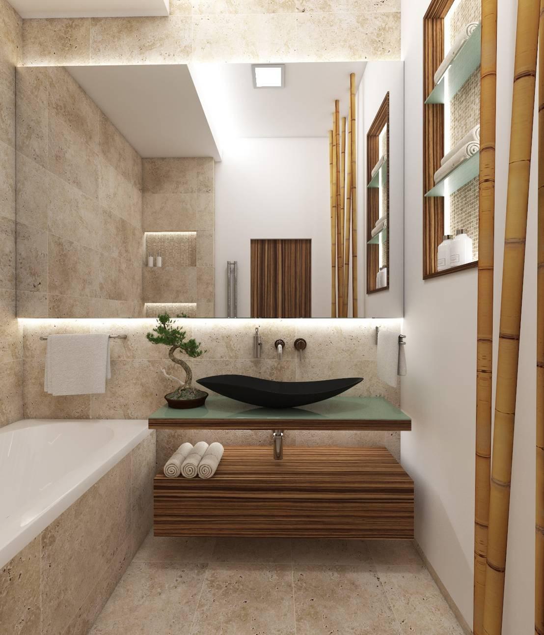 Natur badezimmer fuji von perfecto design homify for Badezimmer verschonern