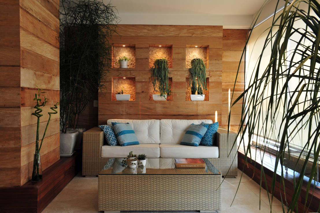 15 ideas para revestir tus paredes con madera y que se for Revestir paredes interiores