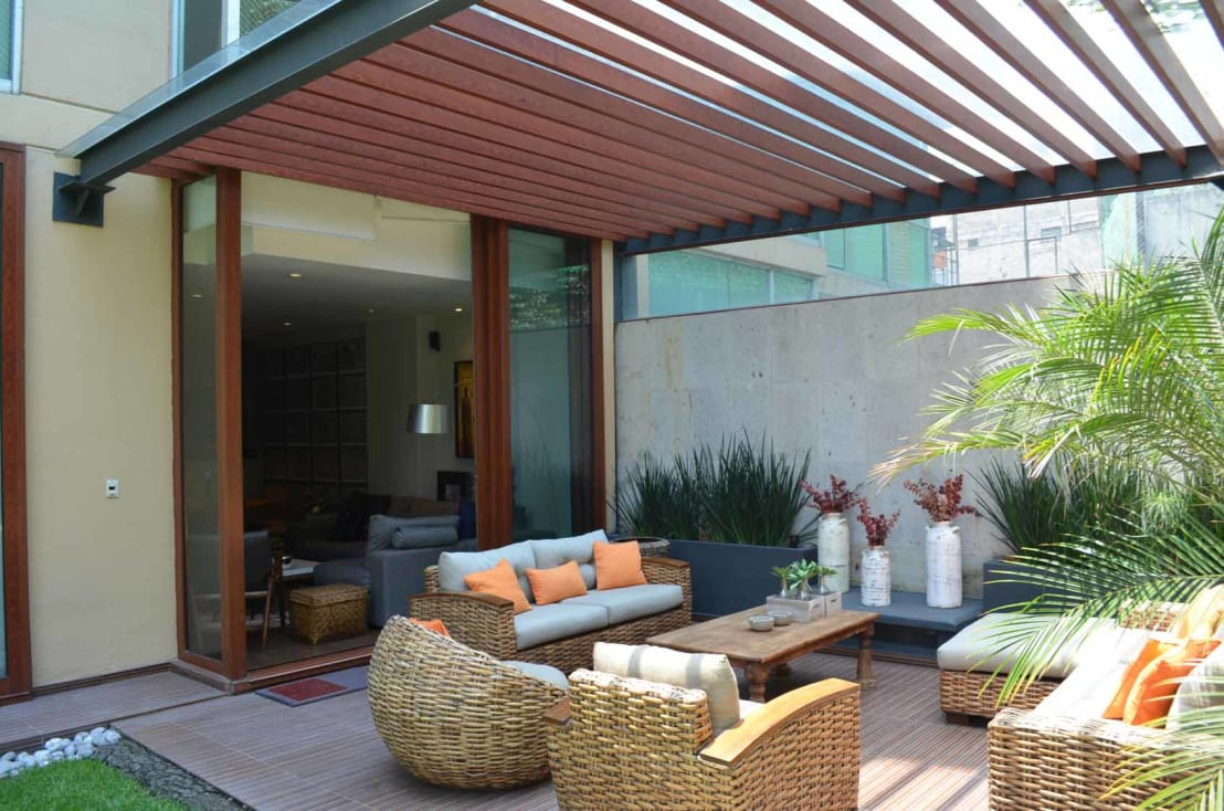 Neem plaats en ontspan in deze 10 overdekte terrassen - Foto sluit een overdekt terras ...