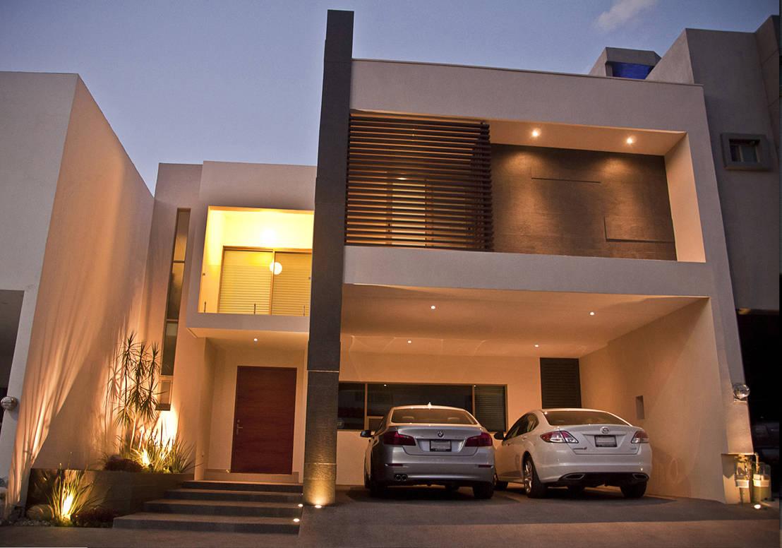Casa la escondida de fc3arquitectura homify for Fachadas de casas con lamparas