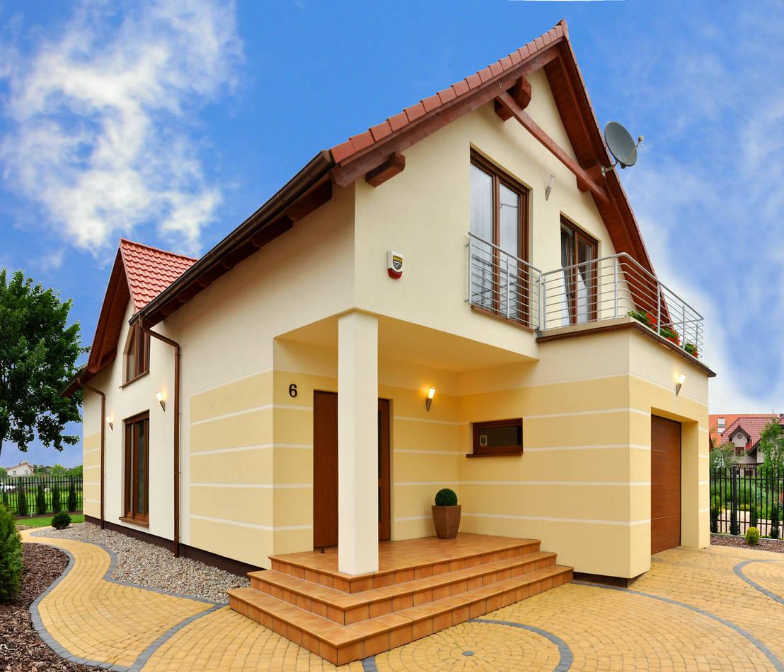 Desain Rumah Gaya Eropa Tanpa Garasi