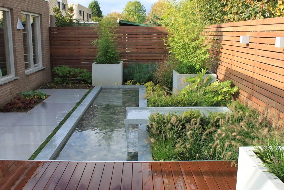 Patios y jardines 7 pasos para construir un estanque - Fuentes para patios y jardines ...