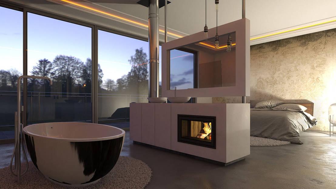 kiimoto 2raum by kiimoto kamine homify. Black Bedroom Furniture Sets. Home Design Ideas