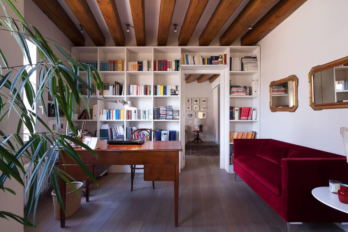 Come progettare un soggiorno piccolo ma accogliente - Angolo studio in camera da letto ...