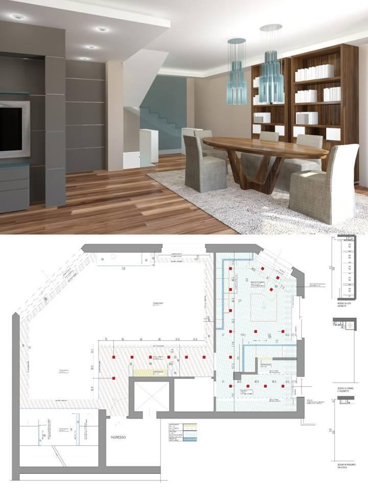 Progetto di interior design appartamento privato cuneo for Metraggio di appartamento studio