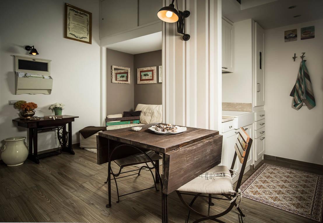 35 m²: un concentrato di shabby chic a Napoli