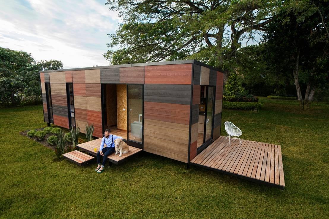 5 casas modernas de un piso con planos para inspirarte m s for Planos de oficinas pequenas modernas
