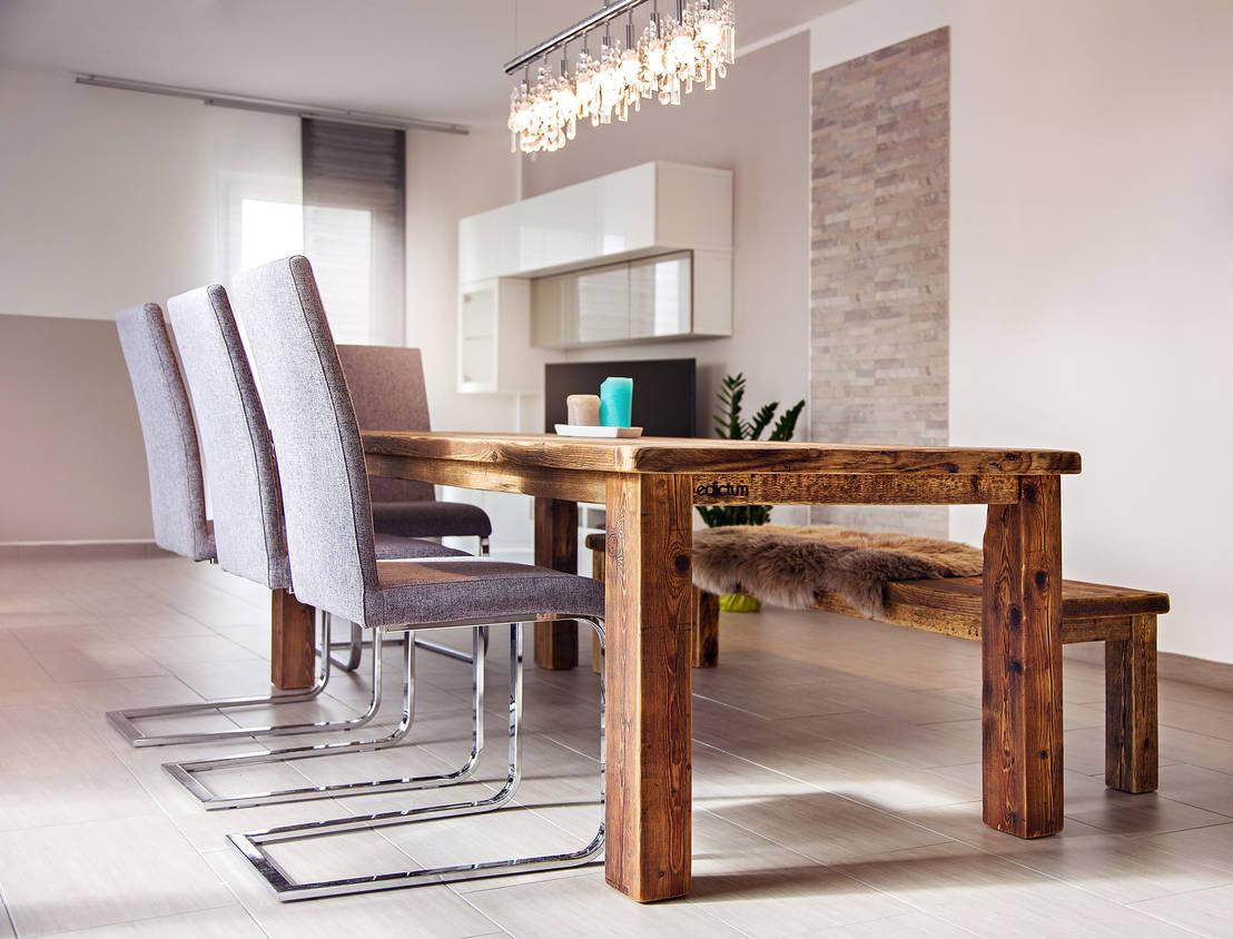 esstischgruppe mit bank de edictum unikat mobiliar homify. Black Bedroom Furniture Sets. Home Design Ideas