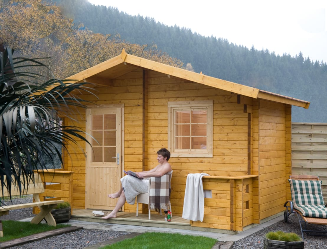 sauna im garten diese 12 h uschen werden dich berzeugen. Black Bedroom Furniture Sets. Home Design Ideas