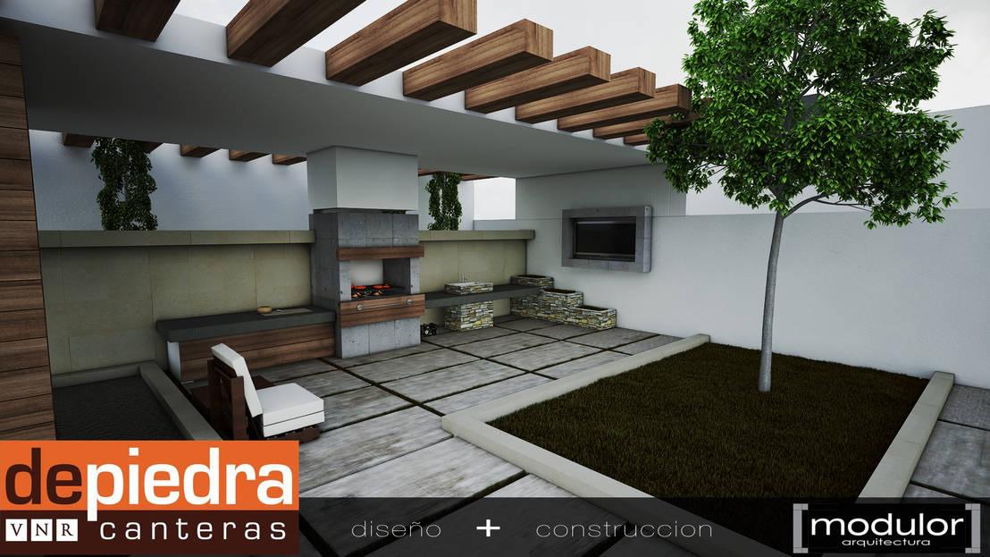 Asador clasico de modulor arquitectura homify for Asadores de jardin modernos