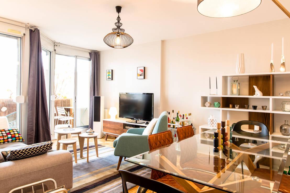 salon sejour style scandinave por mj home homify. Black Bedroom Furniture Sets. Home Design Ideas