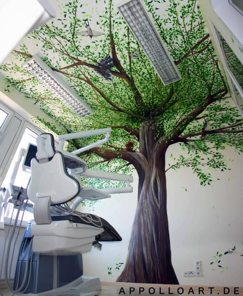 Zahnarztpraxis innenraum design von wandgestaltung for Innenraum designer