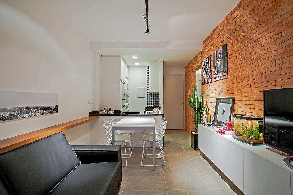Un mini departamento con estilo moderno y juvenil